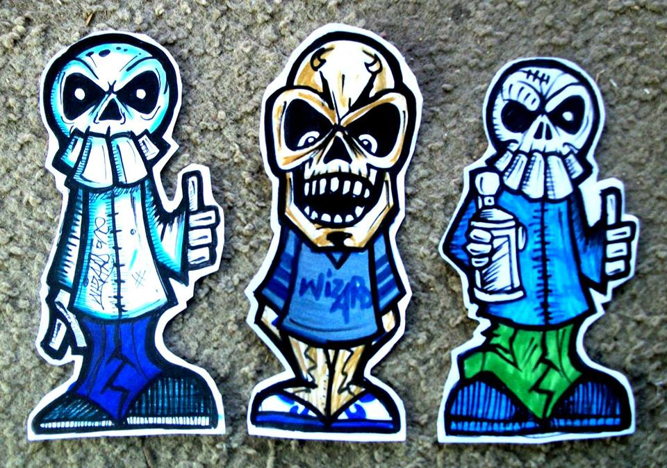 graffiti stickers skulls by wizard1labels on DeviantArt