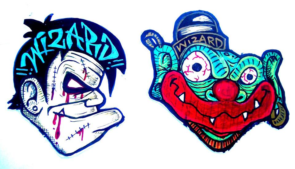 graffiti characters stickers clown by wizard1labels on ...