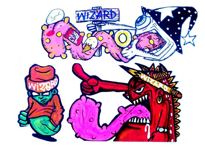 graffiti characters stickers by wizard1labels on DeviantArt