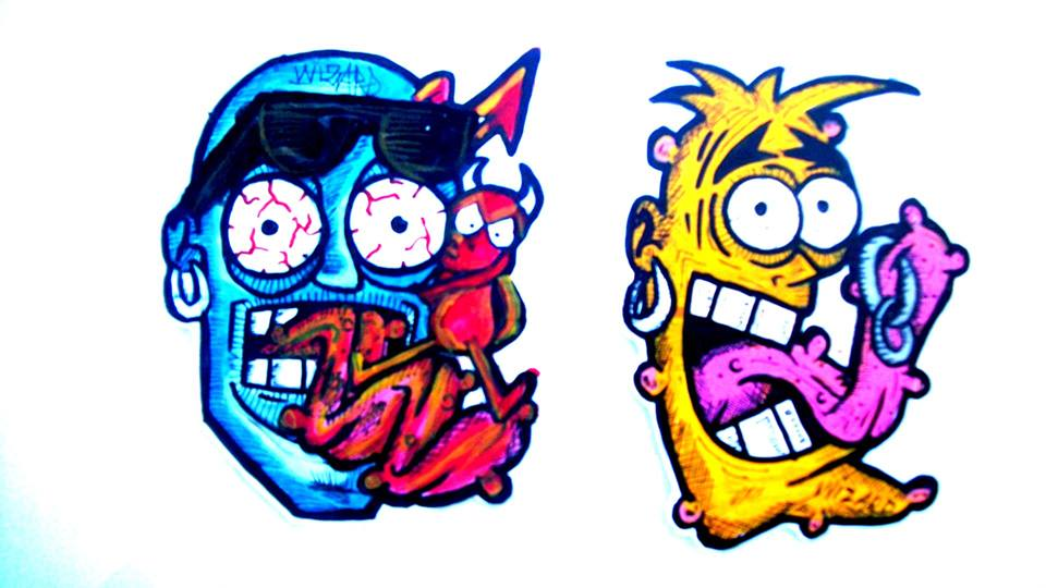 crazy,graffiti,stickers by wizard1labels on DeviantArt