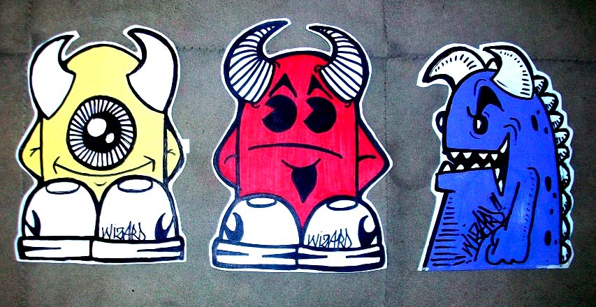 graffiti stickers , devils by wizard1labels on DeviantArt