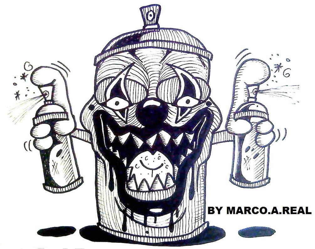 graffiti clown spray can by wizard1labels on deviantart