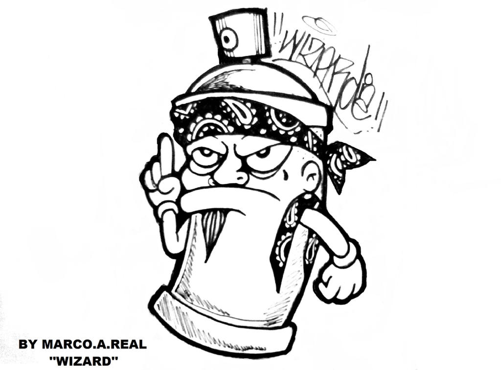 Gangster Graffiti Spray Can By Wizard1labels On Deviantart