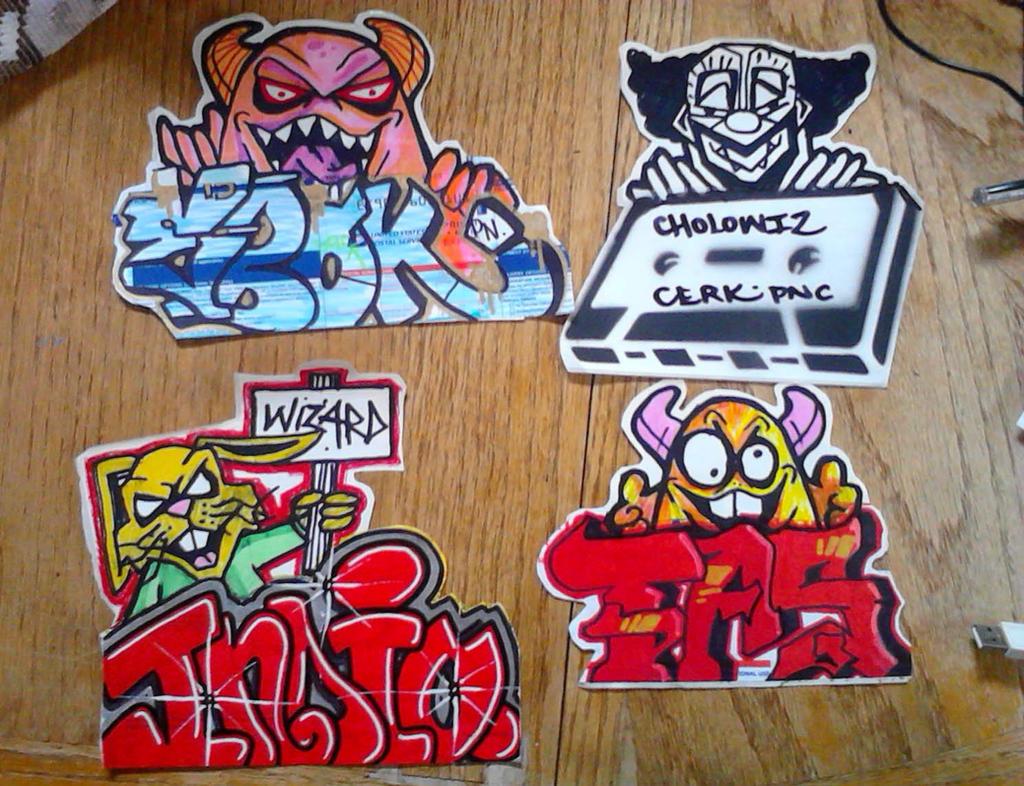 Graffiti stickers by wizard1labels on deviantart
