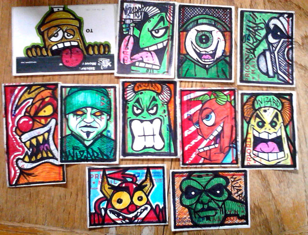 Graffiti stickers by wizard1labels on deviantart graffiti characters stickers by wizard