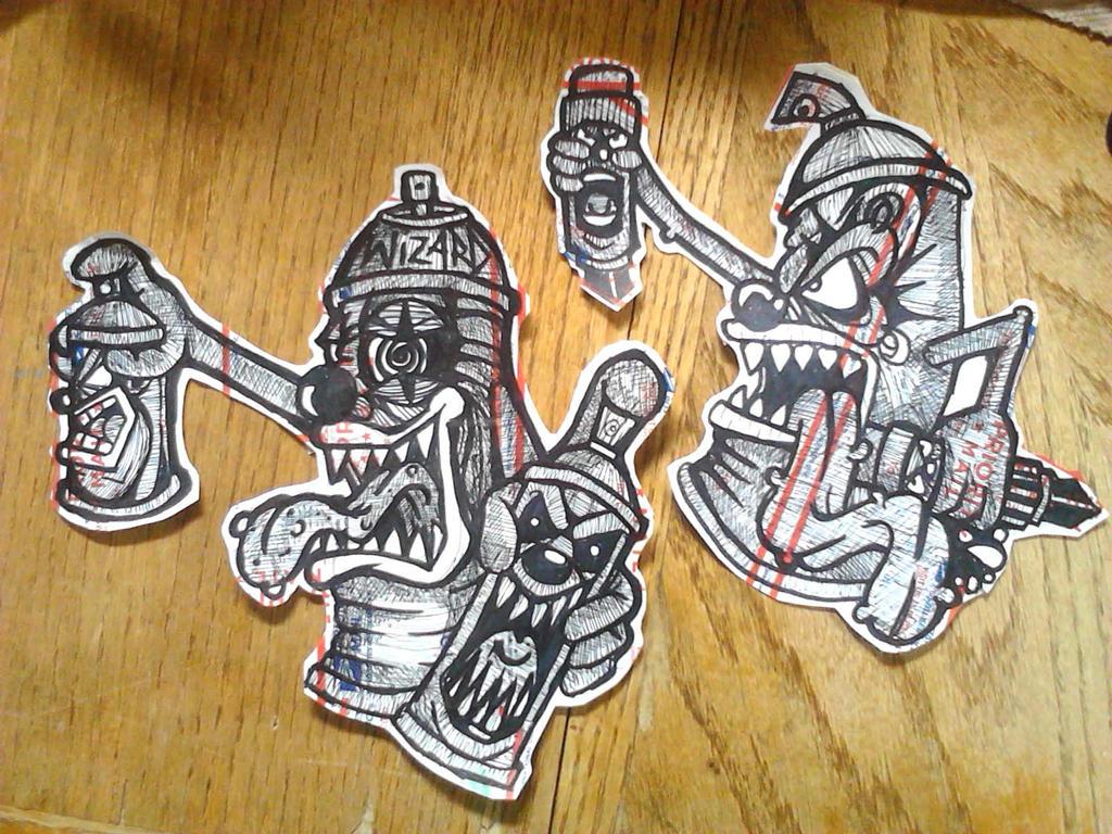 Spray can clowns stickers wizard labels on deviantart jpg 1024x768 clown graffiti characters spray can