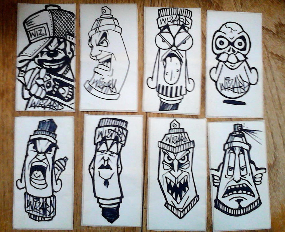 graffiti stickers by wizard1labels on DeviantArt