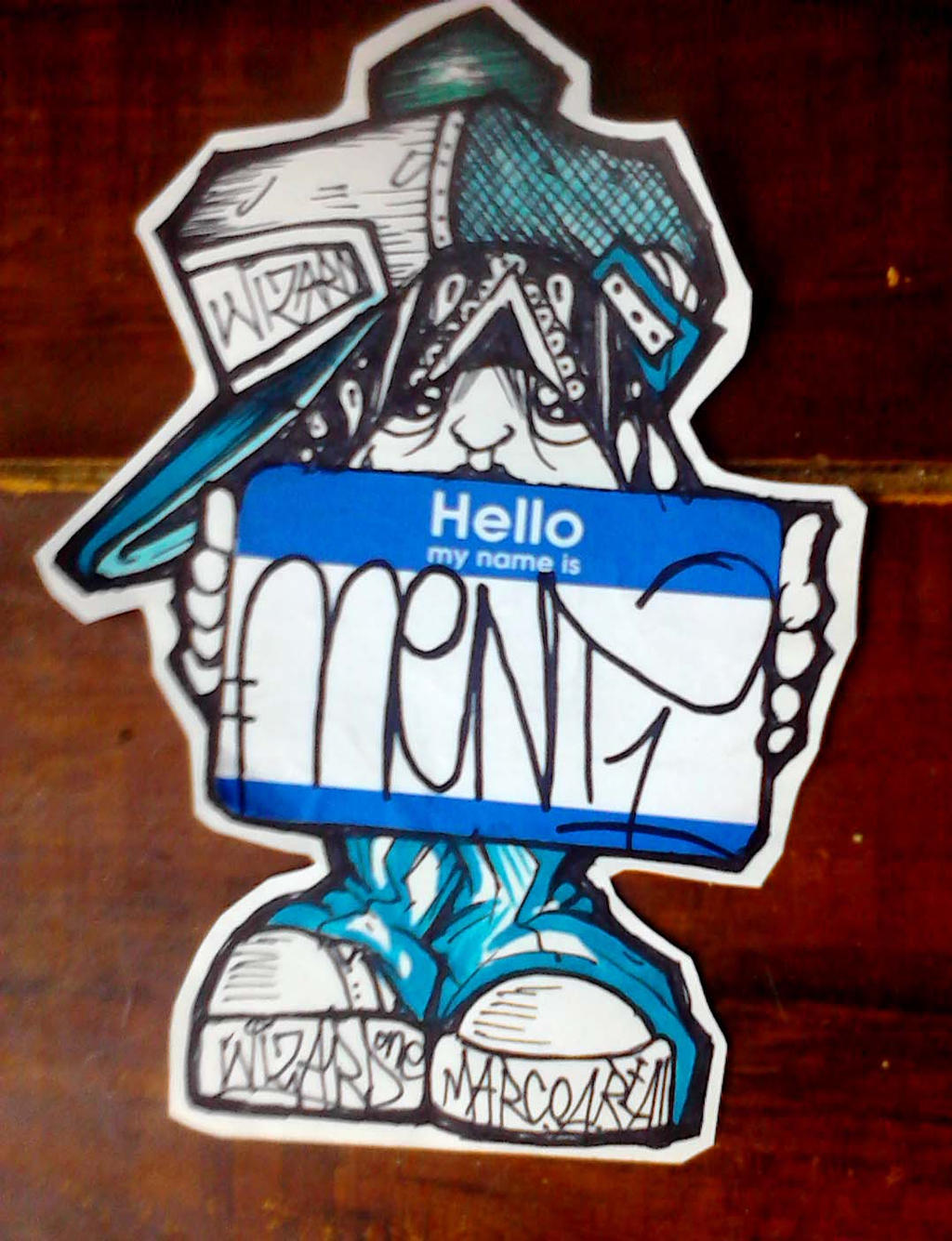graffiti character sticker by wizard1labels on DeviantArt