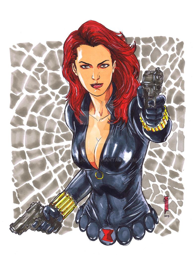 Black Widow Copic Marker By Thegerjoos On Deviantart