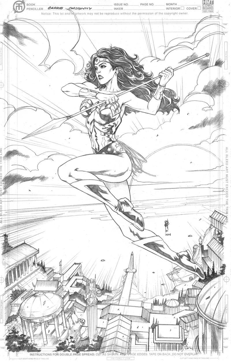 Wonder Woman Paradise island by Thegerjoos