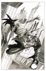 Spidey vs venom 2099 by Thegerjoos