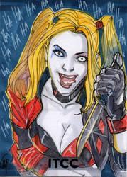 Harley Quinn Sketch Card