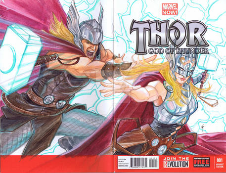 Lady Thor Blank Cover