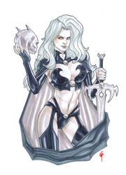 Lady Death Copic Greyscale