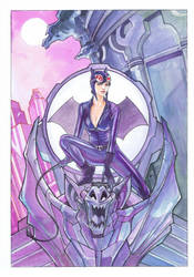 Catwoman Gargoyle by Thegerjoos