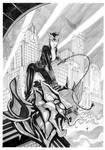 Catwoman on Gargoyle