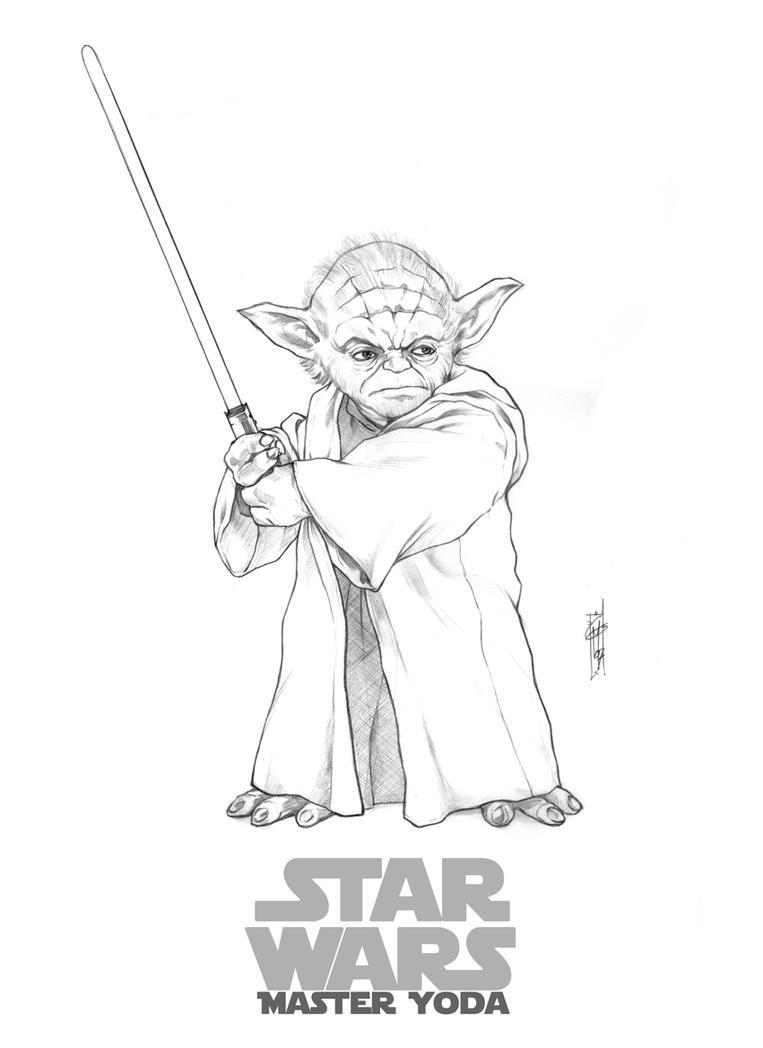 Line Art Yoda : Master yoda by thegerjoos on deviantart