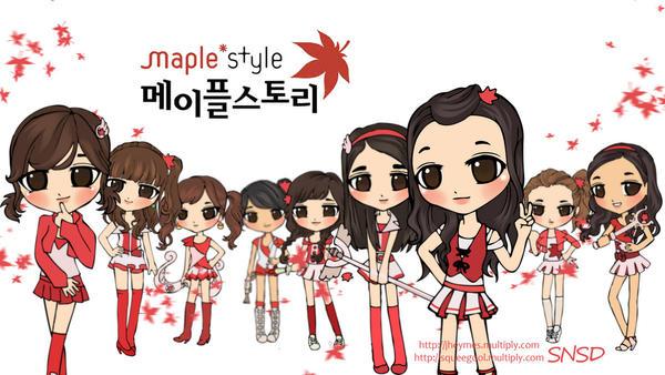 Hình manga của các nhóm nhạc Hàn - Page 2 Snsd_chibi_maple_story_by_squeegool