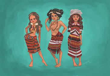 Igorot women by squeegool