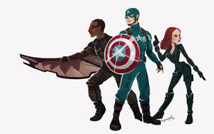 Captain America: Winter Soldier by squeegool