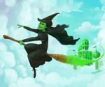 I'm flying high defying gravity