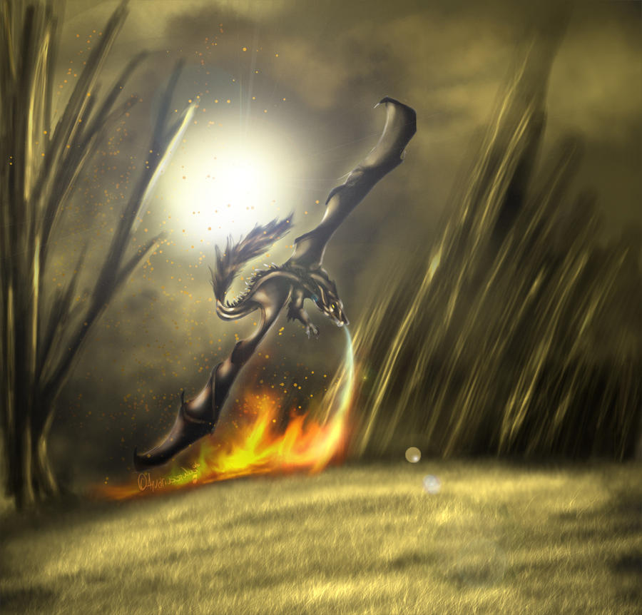 [Commission] Fireborn Haze by Arkhelios