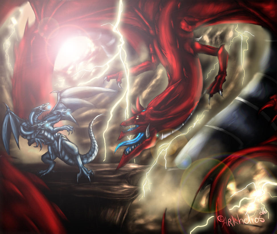 [Personal] Slifer vs Blue Eyes Ultimate Dragon by Arkhelios
