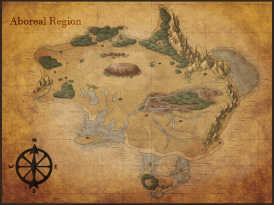 A map of the Aboreal region