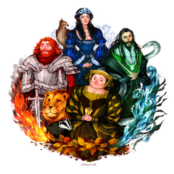 Hogwarts Founders by albus119