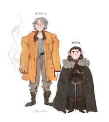 Carol and Arya by albus119