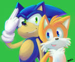 Speedpaint: Sonic and Tails