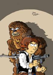 Fanart Chewbacca y Han Solo