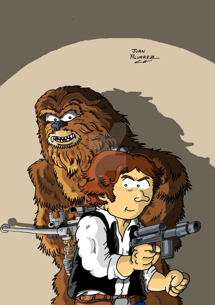 Fanart Chewbacca y Han Solo by JuanAlvarezFuente
