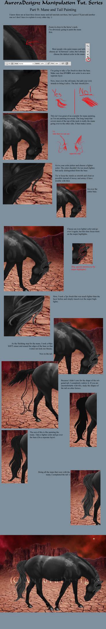 AuroraTutSeries Part 9: Mane and Tail Painting