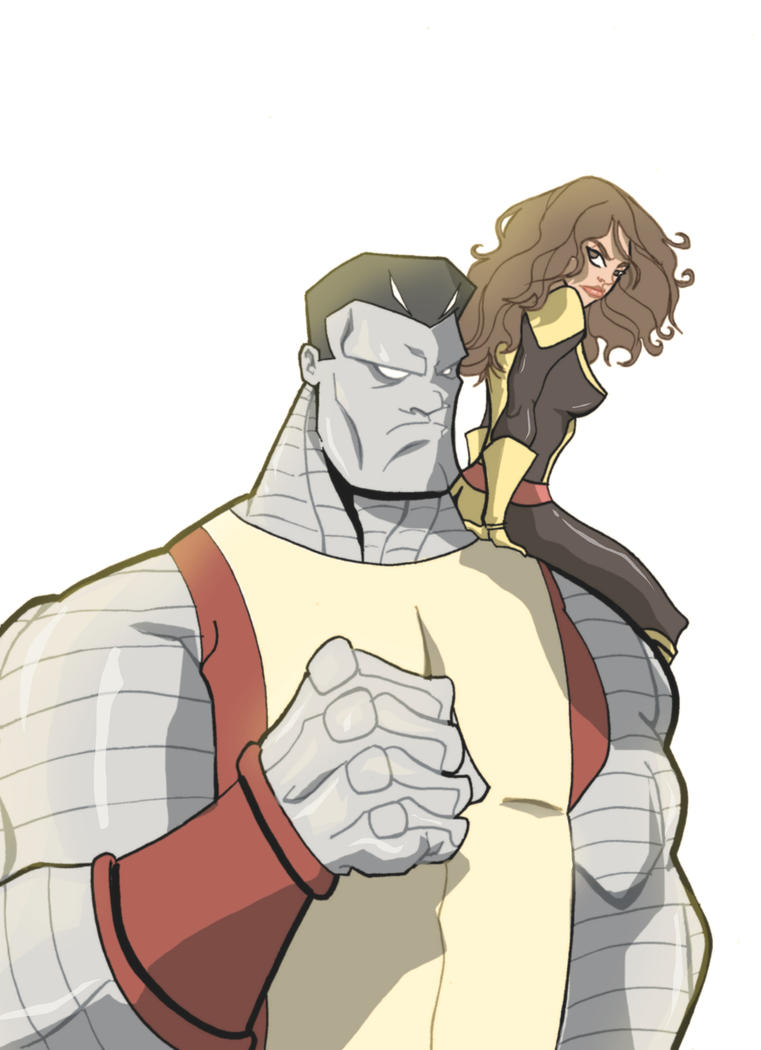 Colossus and Shadowcat by Chrisgemini