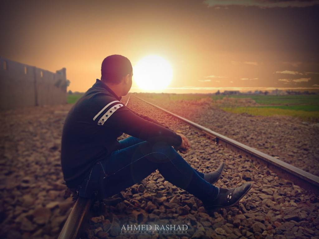 sunset by Ahmed-Rashad-Art