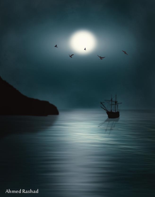 moon sail by Ahmed-Rashad-Art