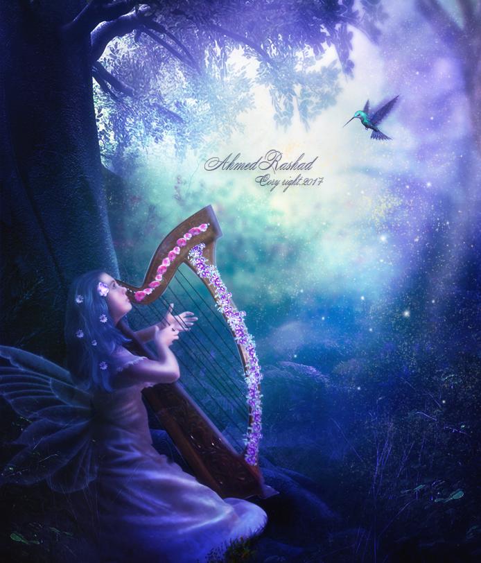 an angel on the earth by Ahmed-Rashad-Art