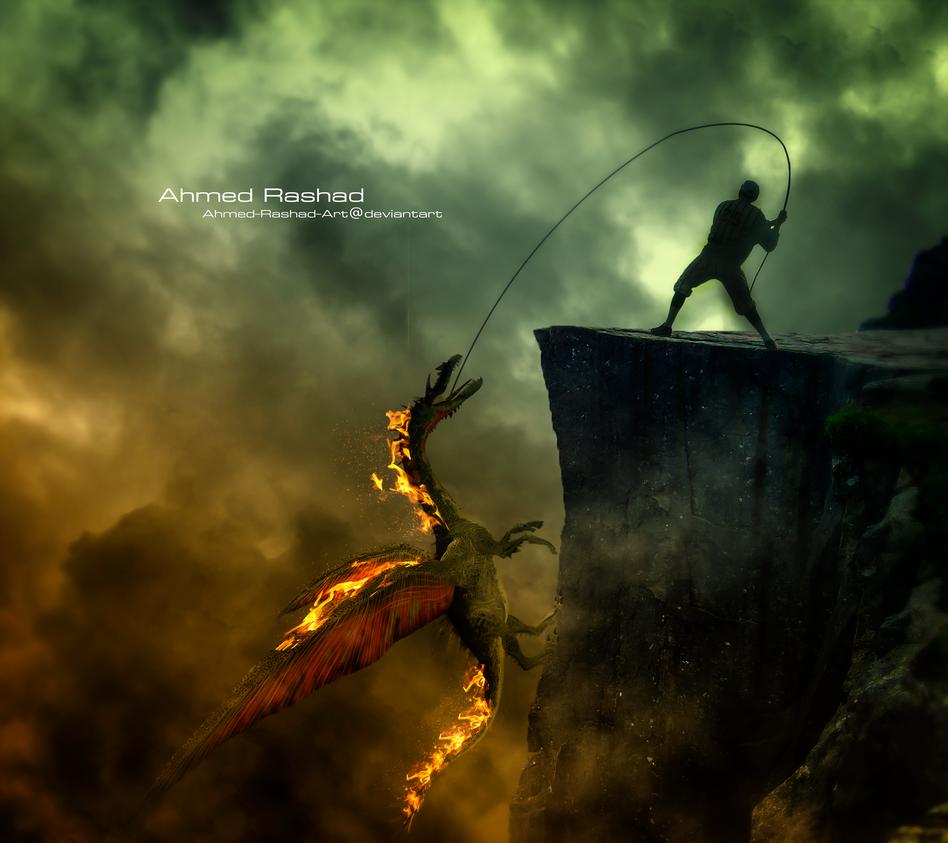 dragon hunter by Ahmed-Rashad-Art