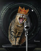 singer cat by Ahmed-Rashad-Art