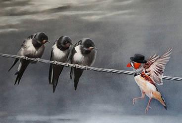 Strange bird by BritaSeifert