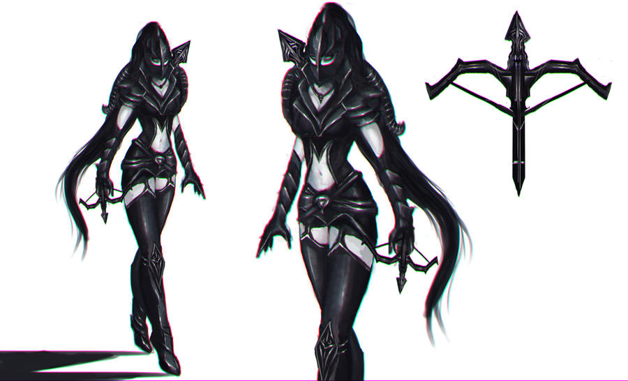 Vayne Skin Concept by WikiMia