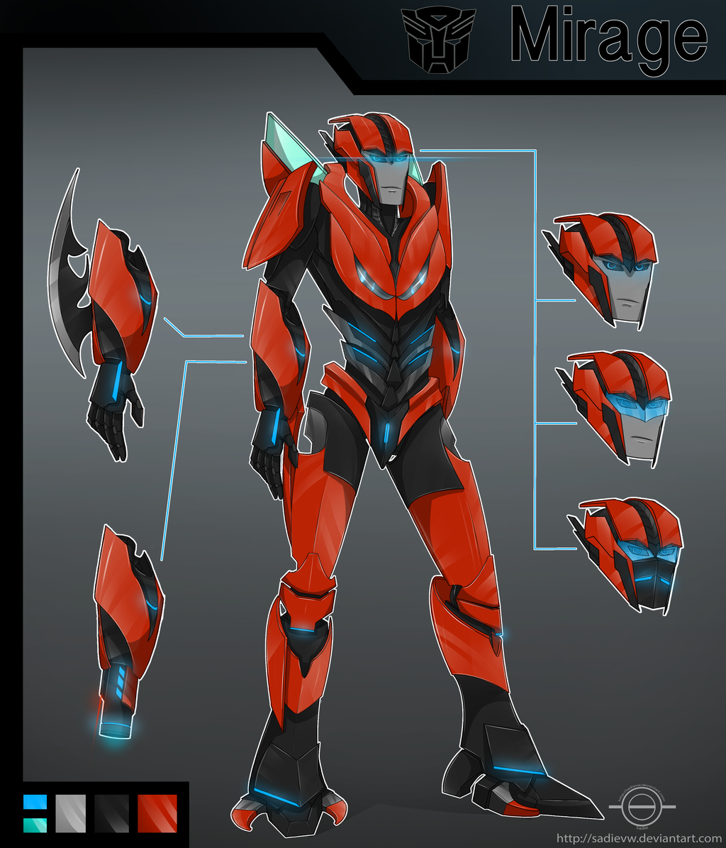 transformers prime mirage by sadievw on deviantart