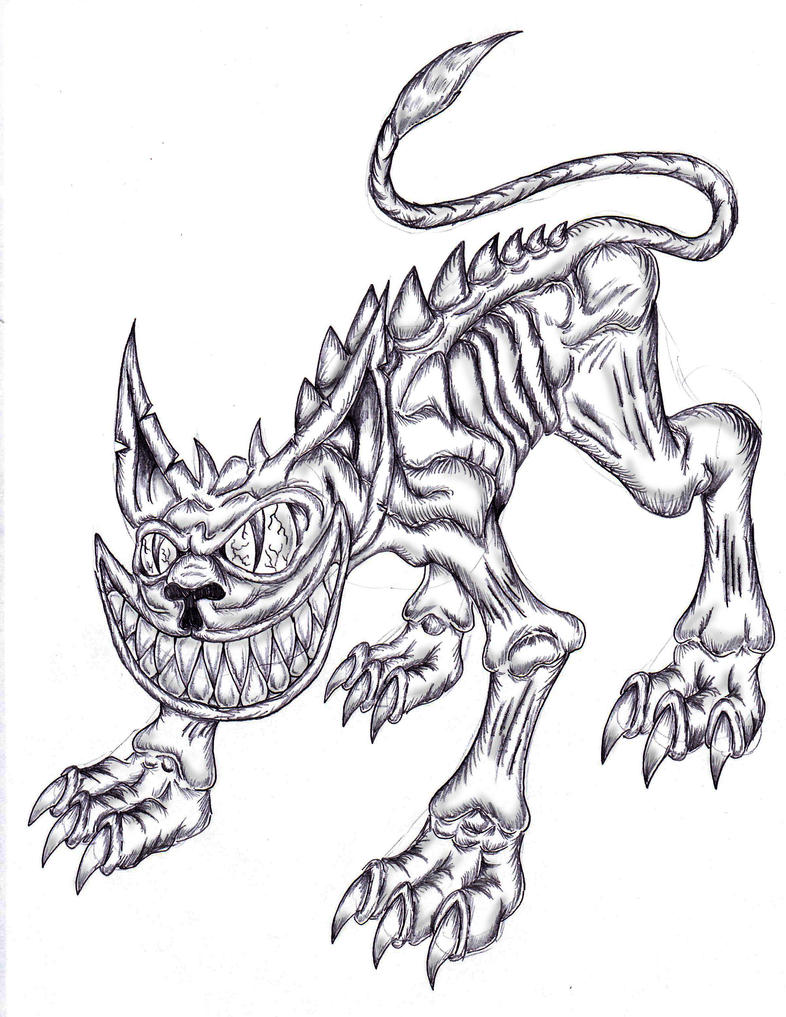 Monsters Gothic Cheshire Cat By Spit Fire233