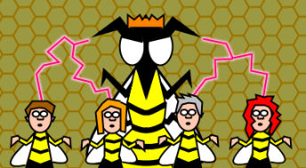Hive Queen and minons
