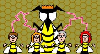 Hive Queen and minons by geoduck42