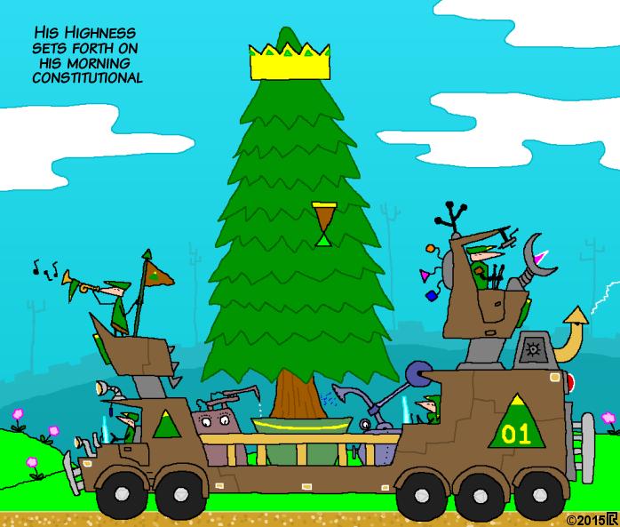 Tree king cartoon by geoduck42