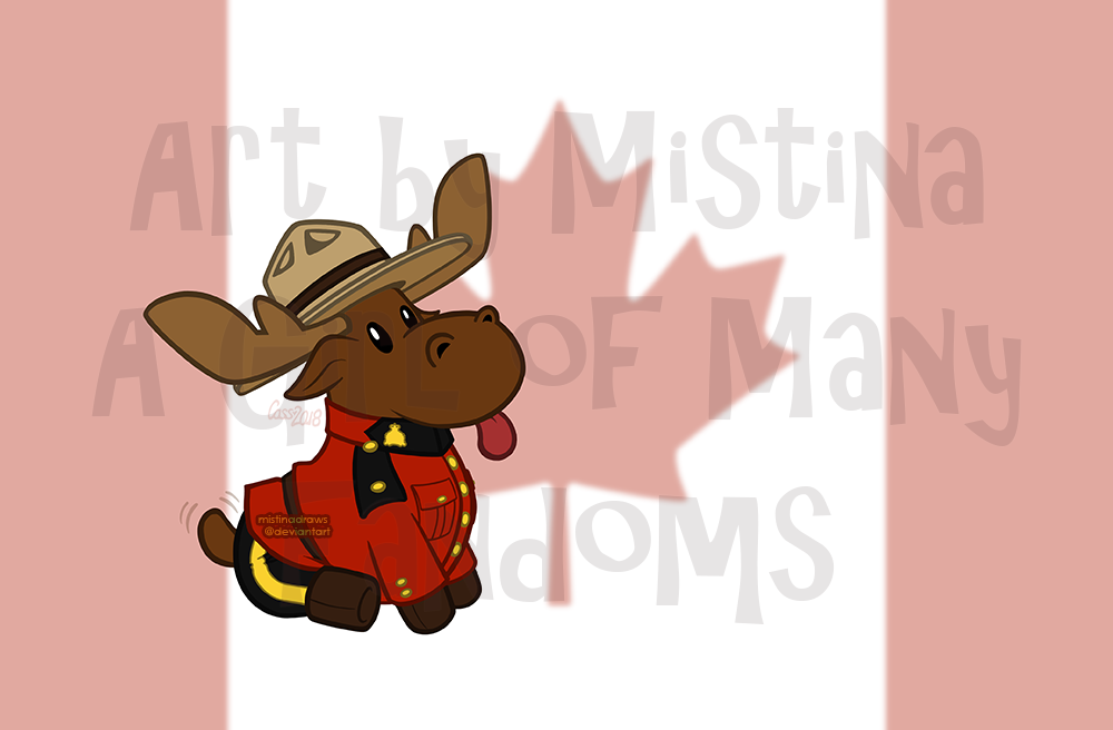 Happy Canada Day! (with background)