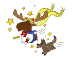 Sailor Moose and Crescant Coyote