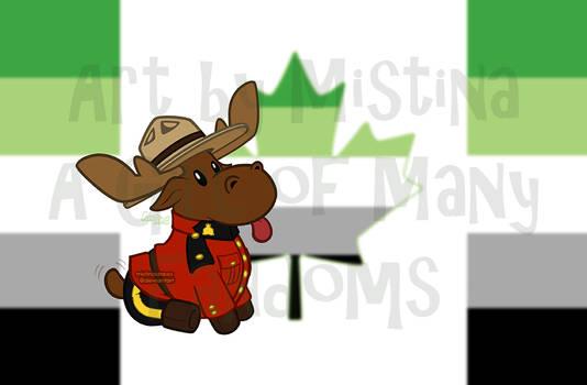 Mountie Moose: PRIDE REMIX! (#08 Aromantic)